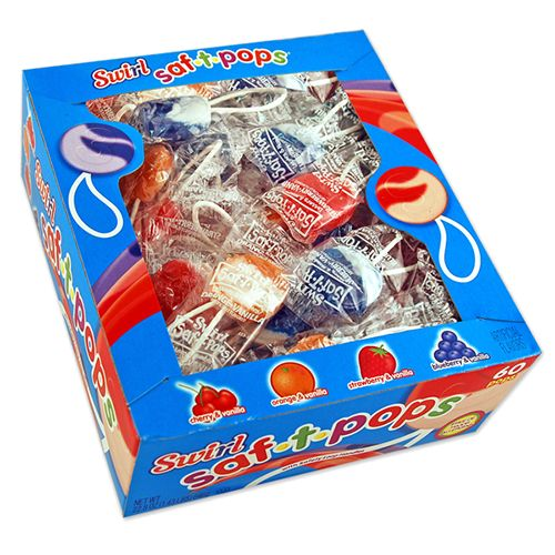 Swirl Saf-T-Pops Lollipops