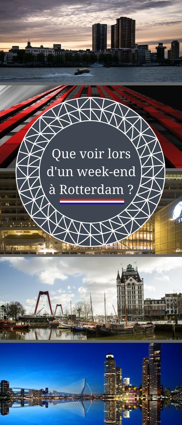 Que voir lors d'un week-end à Rotterdam ? Je vous donne mes bons plans pour aborder sereinement votre voyage. #Rotterdam #Paysbas #Voyage