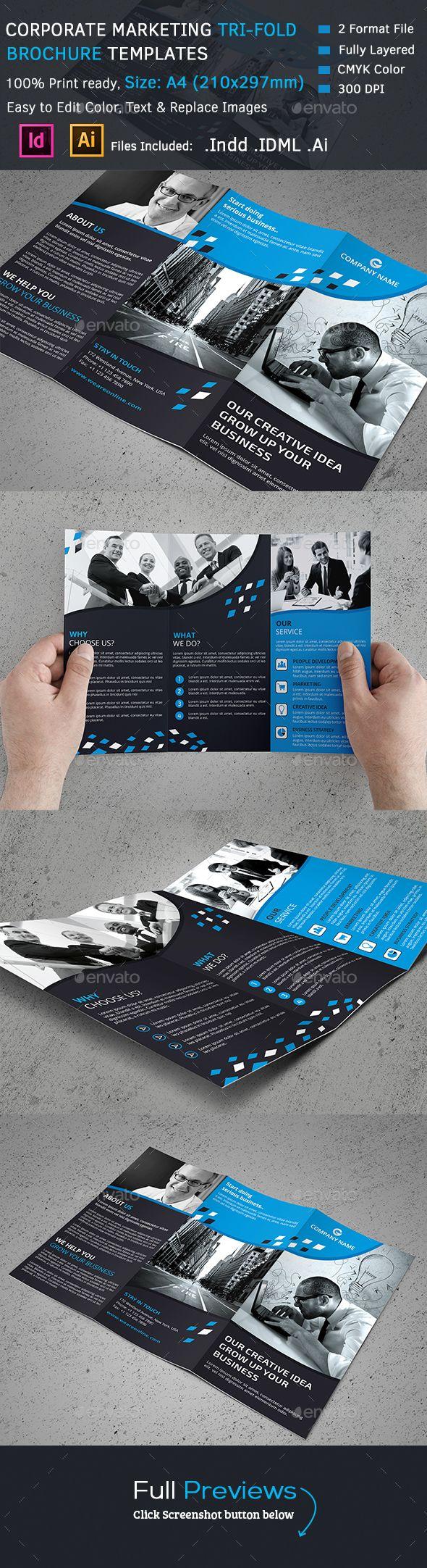 Corporate Tri-Fold Brochure Template #design Download: http://graphicriver.net/item/corporate-trifold-brochure/13082370?ref=ksioks
