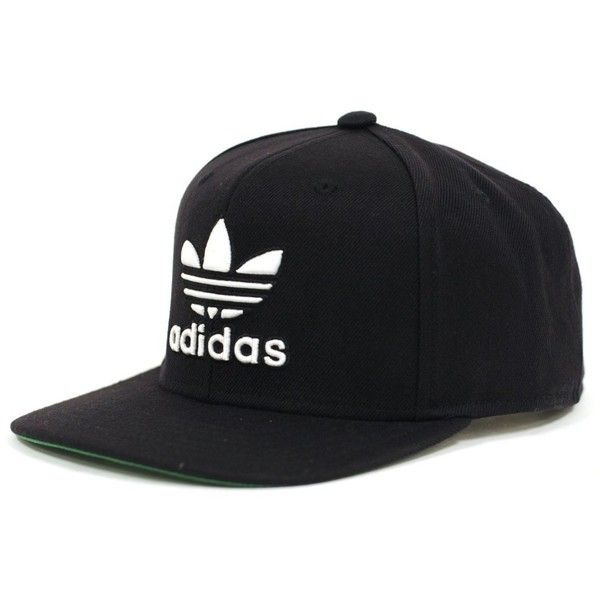 Adidas Thrasher Snapback (Black/White) Hat (£17) ❤ liked on Polyvore featuring accessories, hats, adidas snapback, flat hats, brimmed hat, wide hat and black and white hat