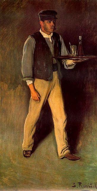 Rusinol, Santiago (1861-1931) - 1895 Owner of the Brewery Cau Ferrat (Museum of Modern Art, Barcelona, Spain) ~Via Samy Odin