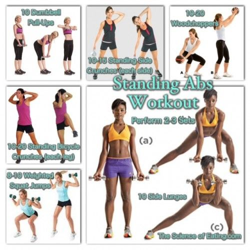 Step By Step Finding Indispensable Issues For Strength Training: Workout Standing Abs: Crunches, Crunches, Crunches! There