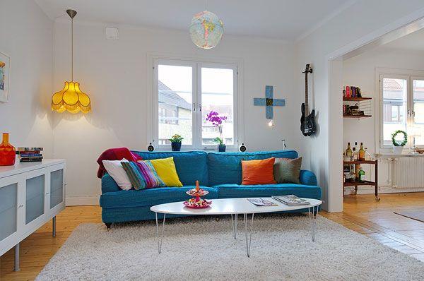 Fresh Stockholm Apartment Showing Colorful Details