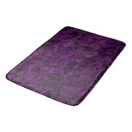 Aluminum Foil Design in Purple Bath Mat - foil leaf gift idea special template