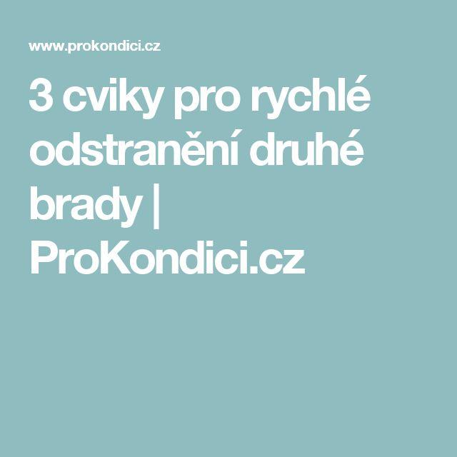 3 cviky pro rychlé odstranění druhé brady | ProKondici.cz