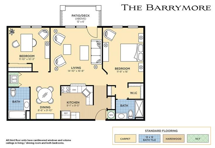 The Barrymore Floorplan