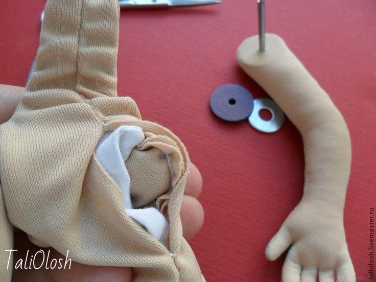 Создание текстильной шарнирной куклы. Часть 5 - Ярмарка Мастеров - ручная работа, handmade