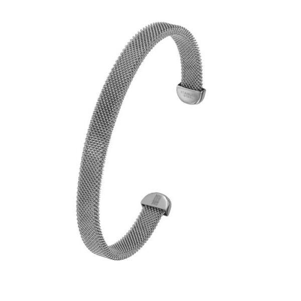 Bracelet en acier gris One Man Show For Girls - Matière : Acier - Diametre : 7 cm - Largeur : 7 mm - Couleur : Gris et acier - http://cemonstyle.com/contents/fr/p289_Bracelet-femme-acier-gris-One-Man-Show-For-Girls-3180958-3597150053057.html