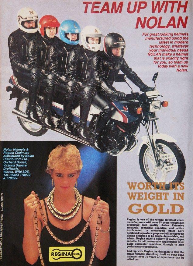 1984 Nolan helmets / Regina chains
