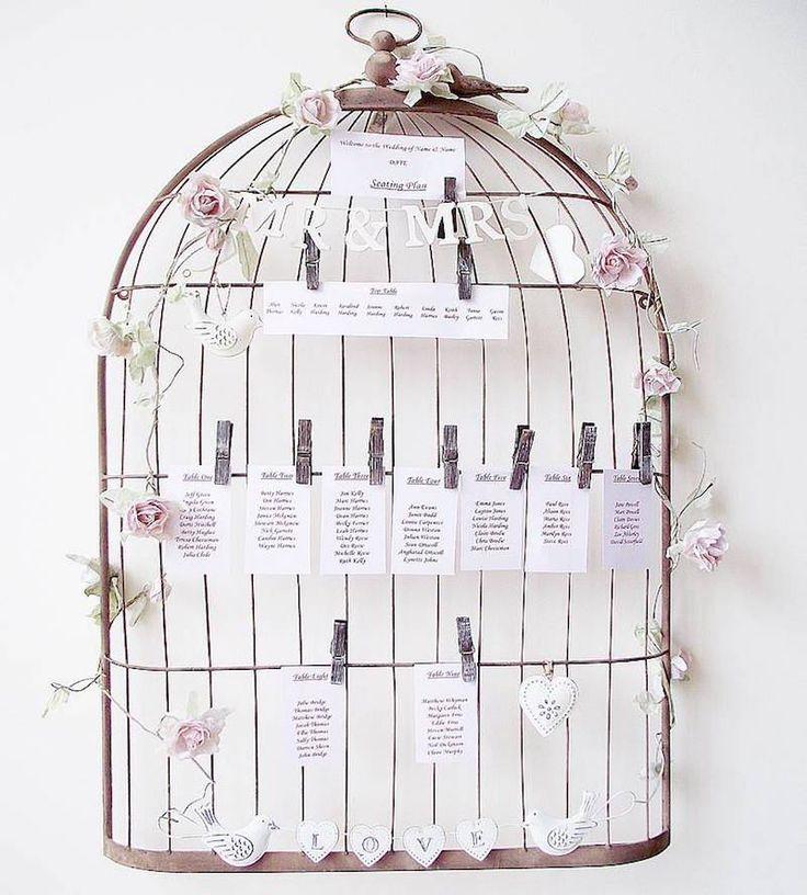 17 meilleures id es propos de d coration de cage oiseaux sur pinterest - Plan de table cage oiseau ...
