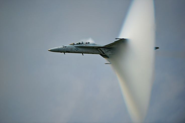 F-18 Super Hornet in supersonic speed