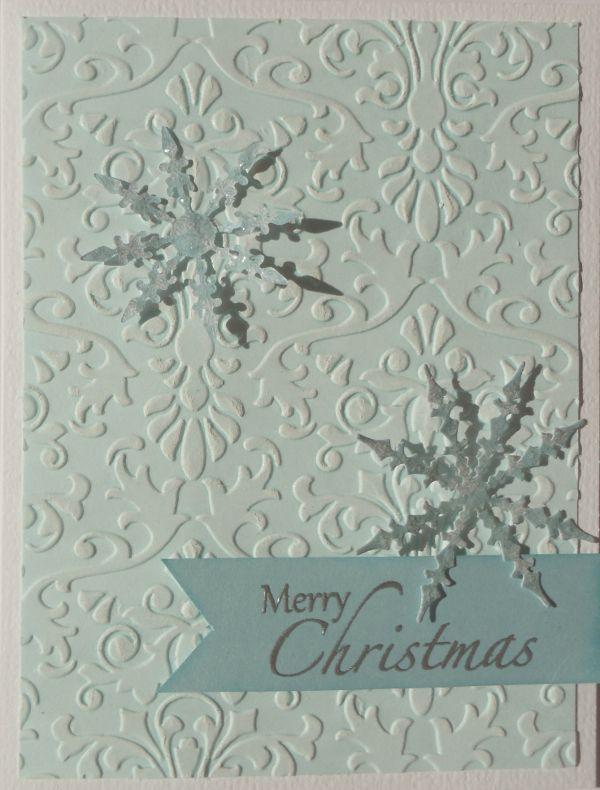 """Und noch ein schnelles Kärtchen zu Weihnachten. Auf den Eiskristallen habe ich von Ranger die Stickles """"Rock Candy"""" aufgetragen. Gibt einen tollen Effekt :)"""
