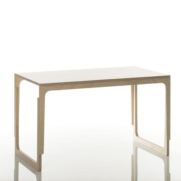 Kinderschreibtisch höhenverstellbar Holz mit weißer Tischplatte