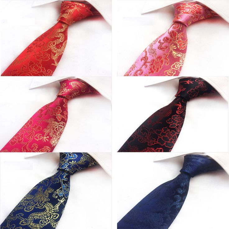 >> Click to Buy << Set/6pcs Fashion neckties Silk Ties 8.0cm Classical Chinese dragon printing tie for Men Formal Wear Business Wedding Suit ties #Affiliate