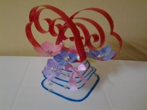 Best out of waste plastic transformed from art to heart for Showpiece from waste material