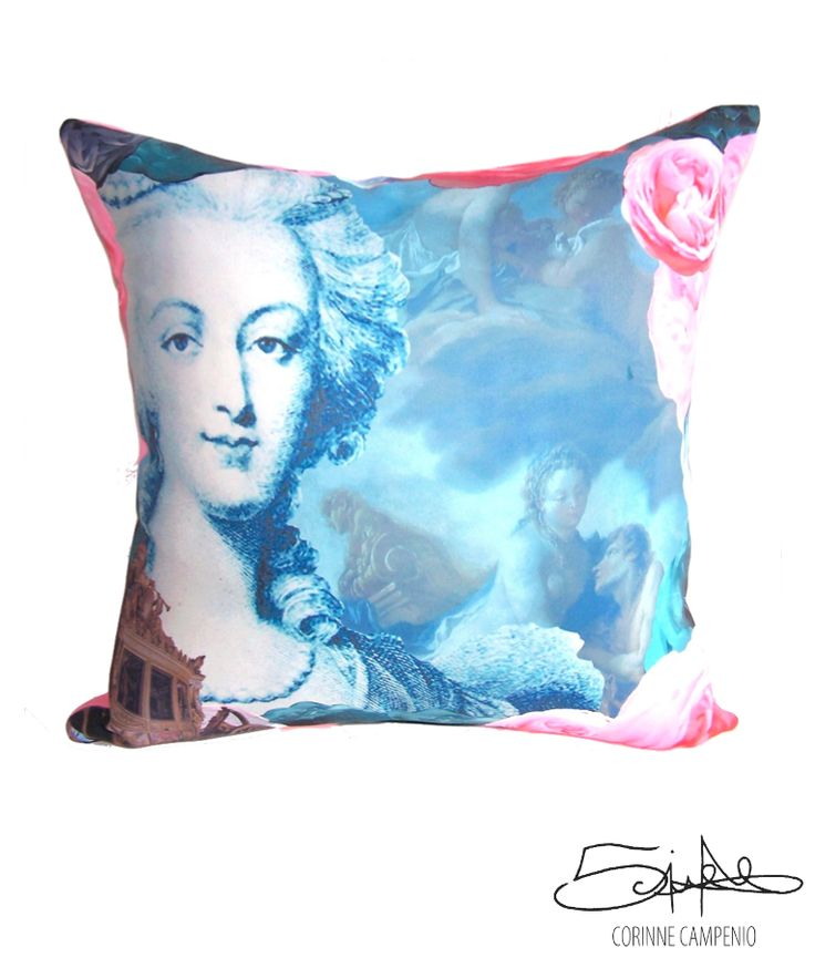 Marie-Antoinette #cushion #queen #furniture #art #graphic #design #designer #home #decor #interior #history