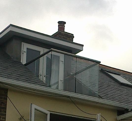 Clean glass balcony on loft conversion