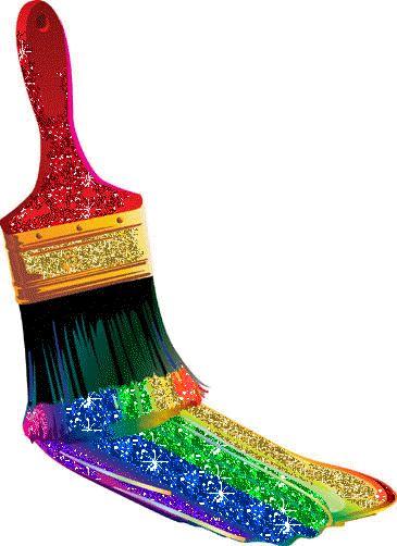 Rainbow Clip Art | http://www.glitters123.com/rainbow/painting-a-rainbow/