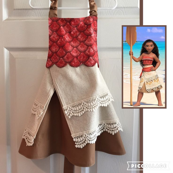 Moana, Polynesian Princess Inspired Apron by LittleNuggetCreation on Etsy https://www.etsy.com/listing/464247702/moana-polynesian-princess-inspired-apron