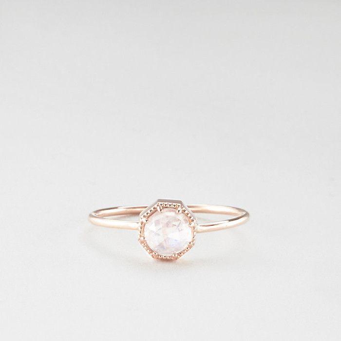 7 Breathtaking Moonstone Engagement Rings via @WhoWhatWear