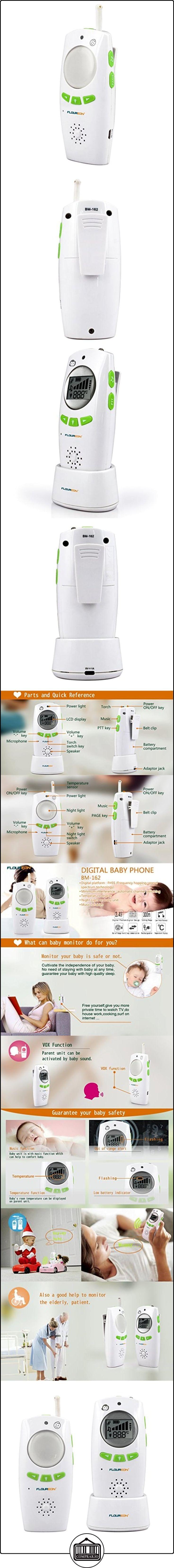 Floureon BM162 - Vigilabebes Monitor de Bebés Seguridad (FHSS, Sin Radiación Lesión, Inalámbrico, Comunicación Bidireccional, Intercomunicadores de Audio, Canciones de Cuna, Unidad Luz de Noche), Verde  ✿ Seguridad para tu bebé - (Protege a tus hijos) ✿ ▬► Ver oferta: http://comprar.io/goto/B01FTPE128