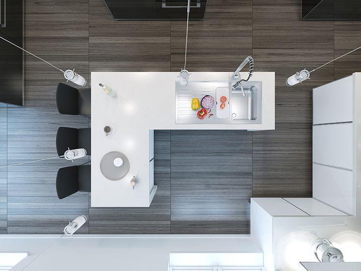 Para crear un espacio cálido, se están integrando pisos laminados o baldosas con apariencia de madera. #cocinas #pisos #diseño #decoracion