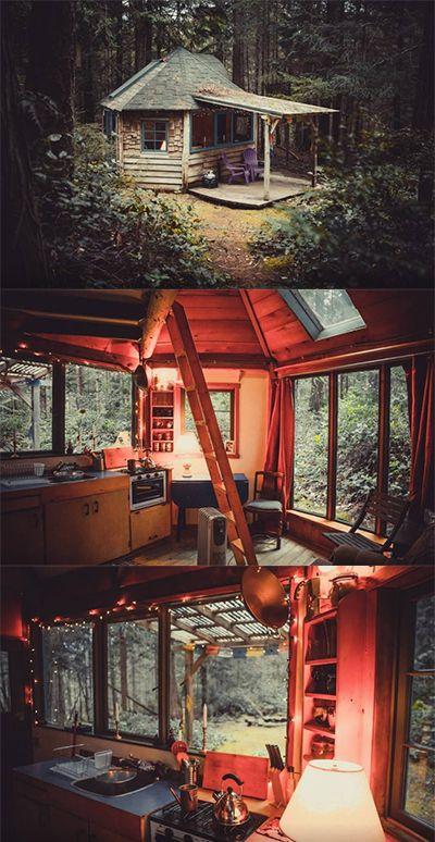 Go off-the-grid at this Galiano Island cabin #tinyhome #cabin #BC #Galiano #retreat