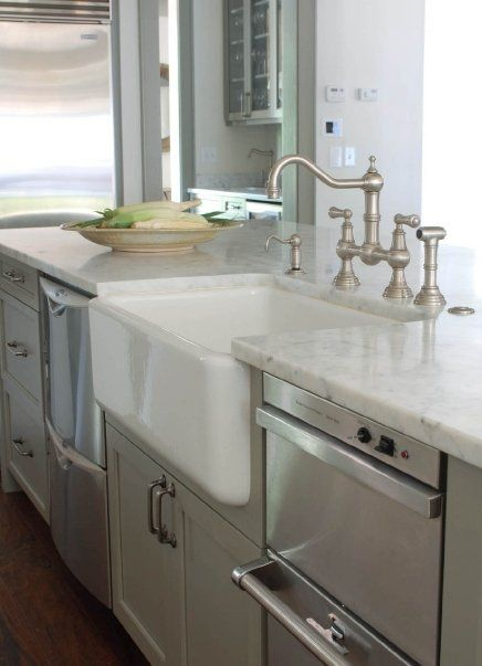 45 best images about kitchen sink on pinterest apron sink butler sink and bow windows - Kitchen sink in french ...