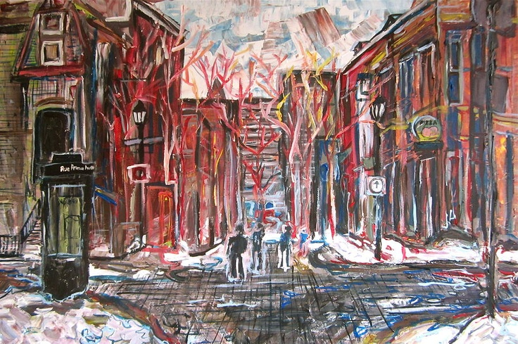 Adamo Tiseo - local artist. love this print, and it's of our neighbourhood!