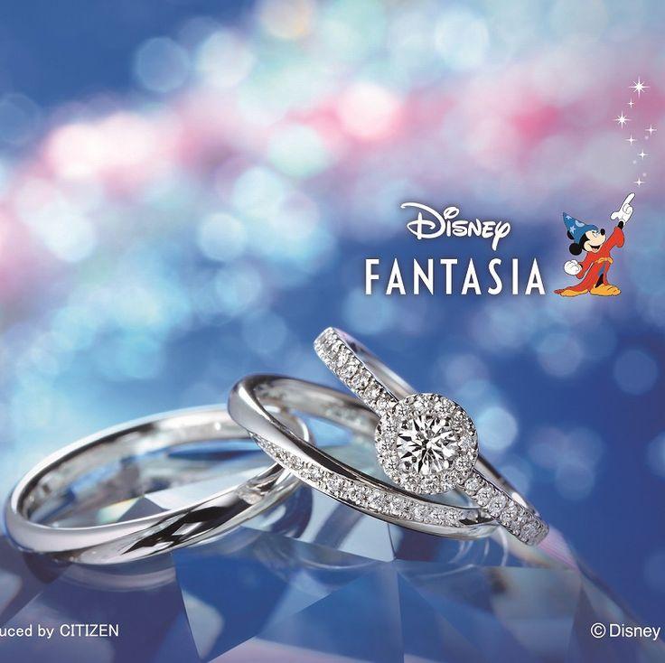 銀座・柏・直方の結婚指輪Disney FANTASIA(ディズニーファンタジア)/tellar Shower ステラシャワー SBD-893 SBD-894
