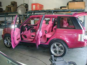 Pinked Over Range Rover Custom Interior