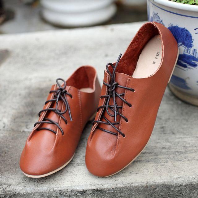 Мори обувь ручной работы кожаные ботинки японский ретро осень пункт сплошной цвет галстука резиновая подошва обуви оптовая продажа