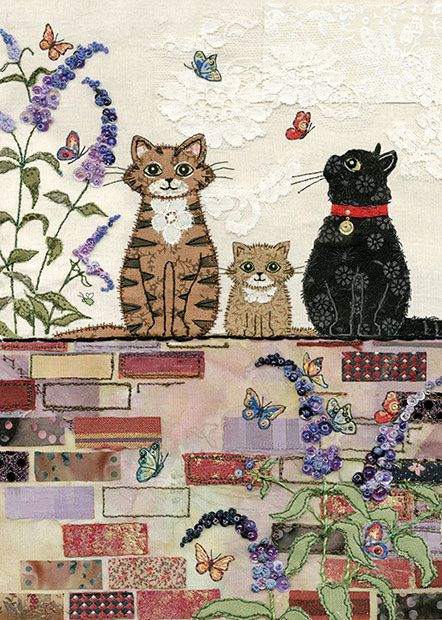 Awesome inspiration for free motion embroidery and raw edge applique - on a website called Bug Art ...
