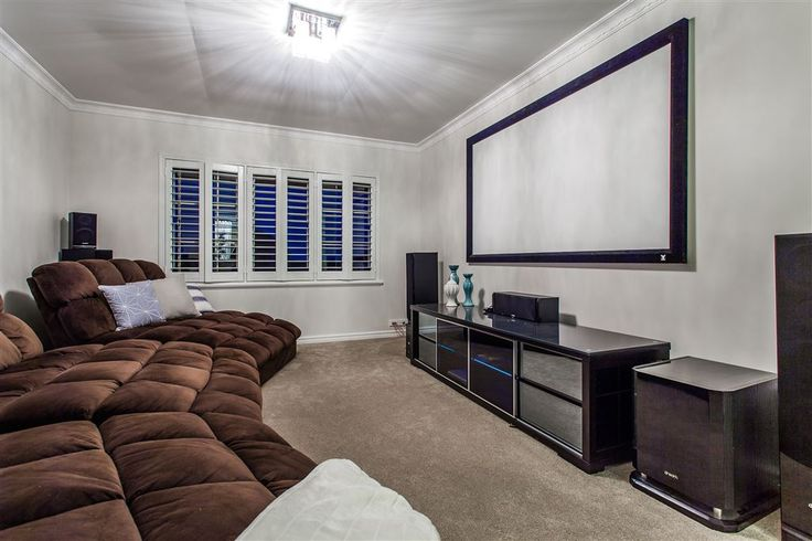 Create your state of the art cinema experience in this fully cabled theatre room.  Winthrop | Perth - Perth Metro | Australia | Luxury Property Selection