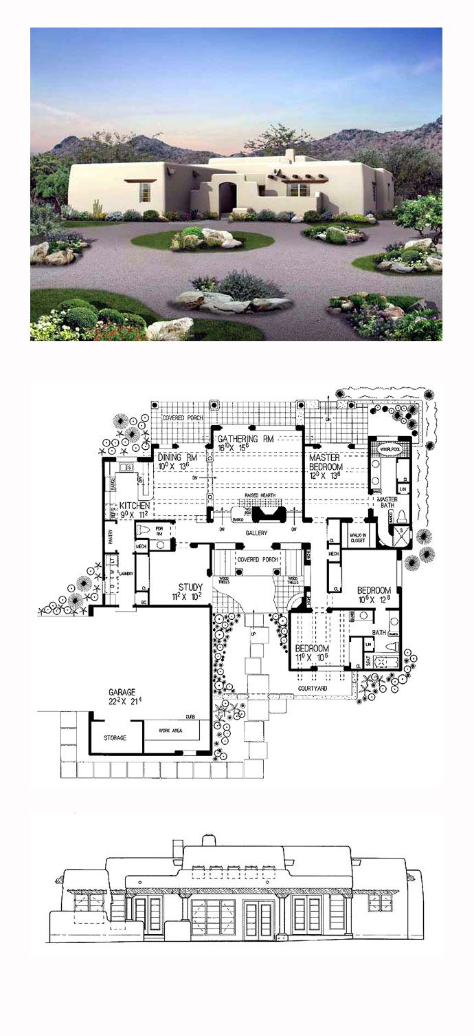 17 Best Images About Adobe Home Plans On Pinterest