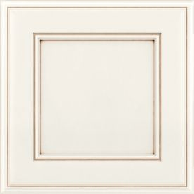 Kraftmaid hartwell 15 in x 15 in dove white and cocoa for Dove white cabinets with cocoa glaze