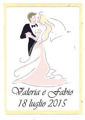 ETICHETTE PERSONALIZZATE PER BOTTIGLIE DI VINO MATRIMONIO by aresjim55