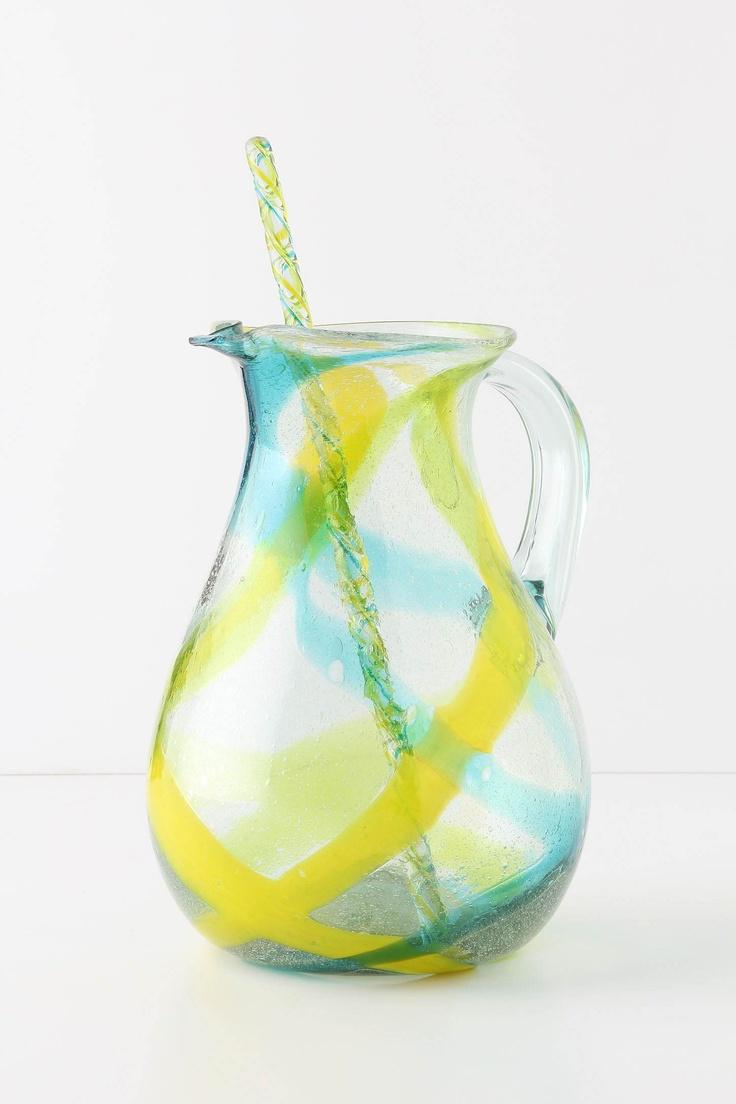 blown glass pitcherDreams Kitchens, Glasses, Summer Drinks, Anthropologie Eu, Strawberries Lemonade, Birthday Gift, Vera Pitcher, Anthropology Europe, Aloe Vera