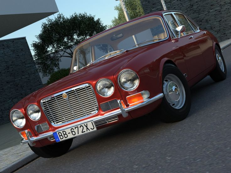 Jaguar XJ6 (1972) 3D Model- Model was made for use in architectural visualisations and animations and do not increase dramaticaly total polygon count in complete scene. It has xpresso in c4d format, that is ONLY animated, on door and steering wheel, handled by sliders. Wheels are revolving automaticaly according to speed and movement direction. Suspension is keeping wheels always on track. Just align to spline, define terrain and have fun Environment scene where the car is placed is not…
