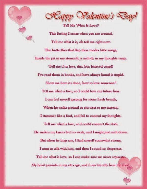 valentine poem for him - Valentines Day Poem For Him