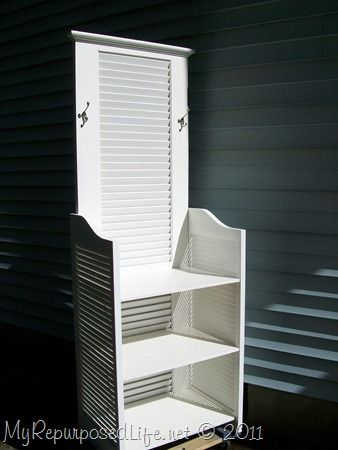 I have A LOT of old louver doors. I am not sure I am this ambitious, though. But maybe I can sell them to someone who is?