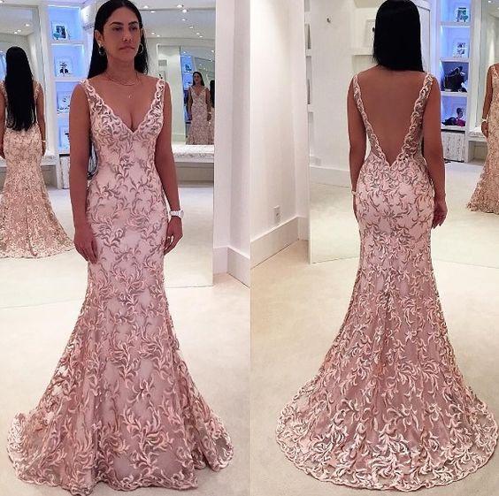 Charming Prom Dress,Mermaid Prom Dress,Long Prom Dresses,Blush Pink