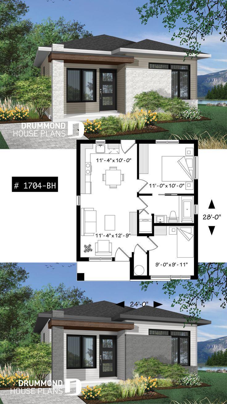Kleines und erschwingliches Haus im modernen Stil, ideal für Erstkäufer, 2 Schlafzimmer, offener Grundriss