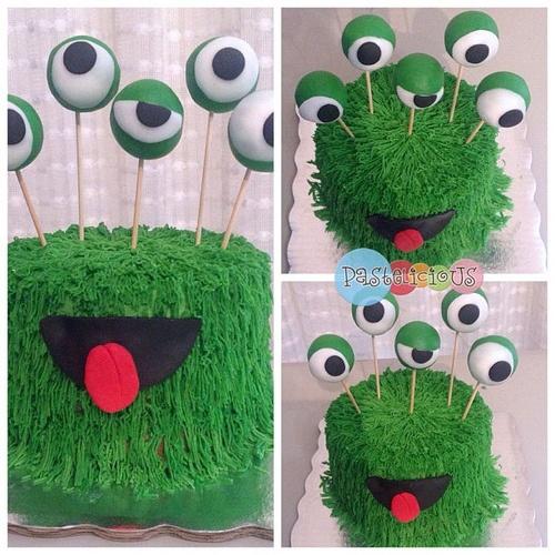 #pastelicious #birthdaycake #monster