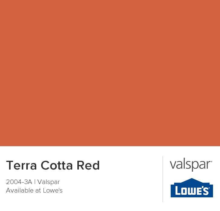 Terra Cotta Red From Valspar Paint Pinterest Valspar