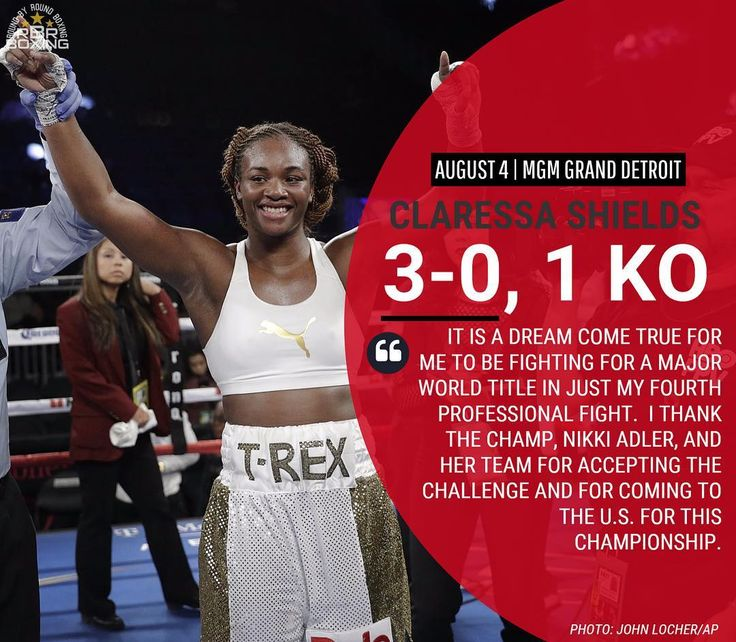 """Two-time Olympic gold medalist Claressa """"T-Rex"""" Shields will challenge for her first world title against WBC Super Middleweight World Champion Nikki Adler in the main event of ShoBox: The New Generation Friday, August 4, live on Showtime at 10:00 pm, EST/PST from the MGM Grand Detroit.  #Boxing #Boxeo #RoundByRoundBoxing #RoundByRound #RBRBoxing #RBRBuzz #WBC #MGMGrandDetroit #MGM #AdlerShields #ShoBox #ShowtimeBoxing"""