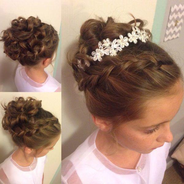 Peinados de ninas para bodas recogido