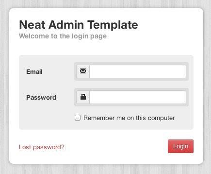 Site Templates - Neat Admin - Responsive Admin Template   ThemeForest