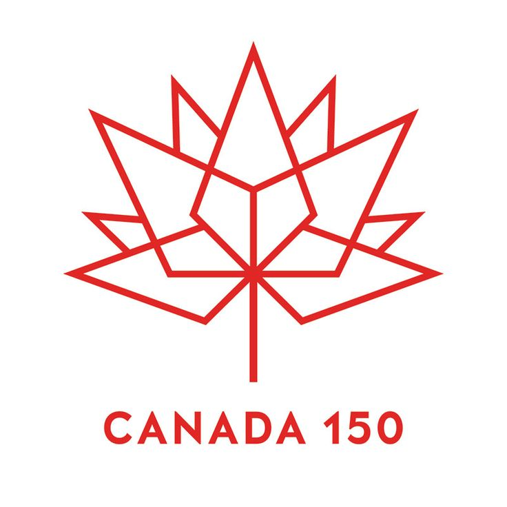 Red Canada 150 logo on white background