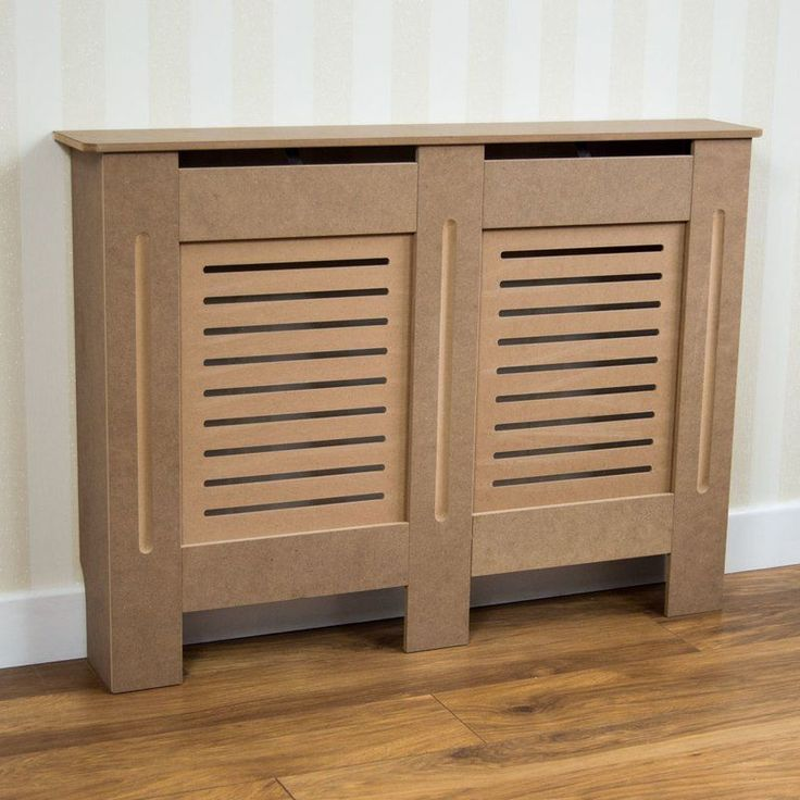 Wooden Radiator Cover Free Standing Medium Brown Grill Design Bathroom Furniture
